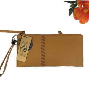 Rachel Roy Leather RFID Wristlet Wallet NWT